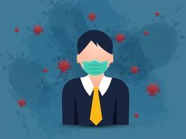 Basic protective measures against preventive coronavirus. vector