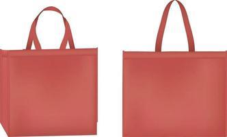 Realistic Woven bag vector