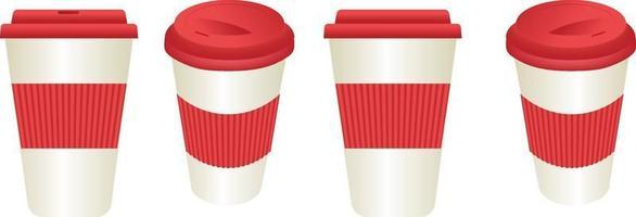 Travel mug with grip vector