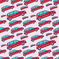 ciudad coche de patrones sin fisuras ilustración de fondo vector