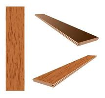 laminate plank icon vector
