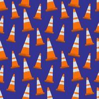 Fondo de ilustración de patrones sin fisuras de cono de seguridad vector