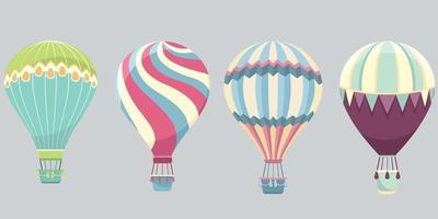 Set of hot air balloons vector