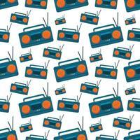 radio, seamless, patrón, ilustración, plano de fondo vector