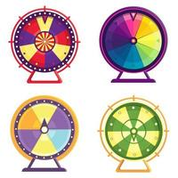 Different wheels of fortune set vector