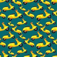 scooter de patrones sin fisuras ilustración de fondo vector