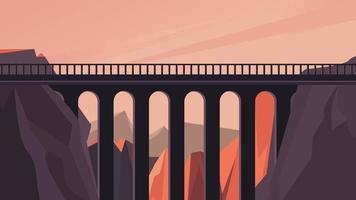 puente sobre el cañón vector
