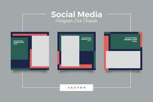 Modern social media instagram post feed template vector