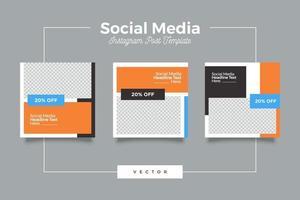 plantilla de publicación de redes sociales de promoción de negocios digitales vector