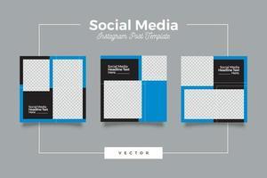Digital business mobile social media post template vector