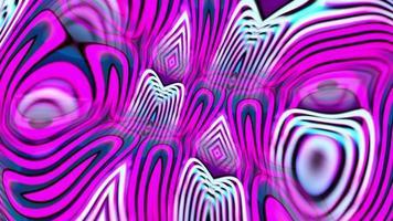 loop de animação psicodélica hipnótica rosa roxo azul