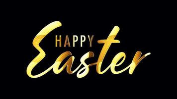 Happy Easter Golden Lighting with Alpha Channel video