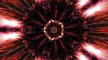 Caleidoscópio de explosão abstrata loop de rotação futurista