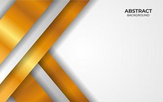 estilo de diseño de lujo blanco y dorado vector