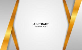 diseño abstracto estilo dorado y gris vector