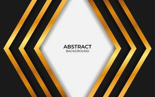 Abstract Luxury Black And Gold Design vector