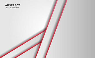 Abstract Red And White Style