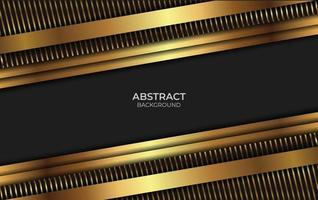 Abstract Luxury Design Black And Gold vector