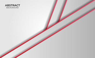 estilo abstracto fondo rojo y blanco vector