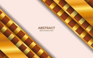 Design Luxury Brown And Gold Background vector