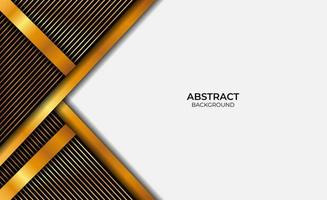 Abstract Design Luxury Gold And Black Background vector