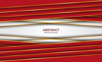 Abstract design gold and red background vector