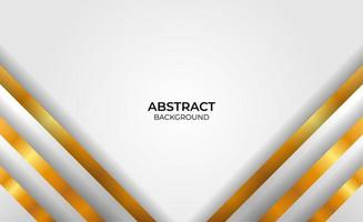 Elegant geometric gold and gray background vector