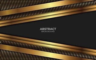 Abstract Luxury Black And Gold Design