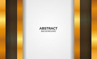 Abstract design gold and black background vector