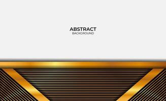 Abstract Luxury Gold And Black Background vector