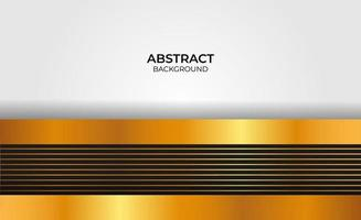 Design abstract gold and black background vector