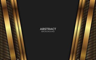 Abstract Design Luxury Black And Gold Style