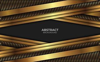 Abstract Luxury Black And Gold Style