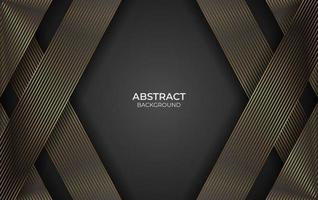 Design gold line abstract style vector