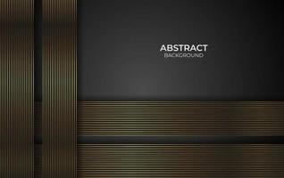 Design gold line background style vector