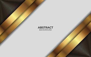 diseño abstracto de fondo dorado y negro vector