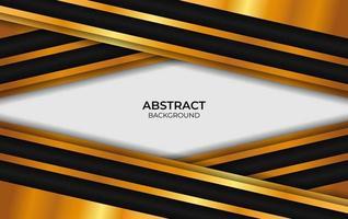 fondo de diseño de lujo negro y dorado vector