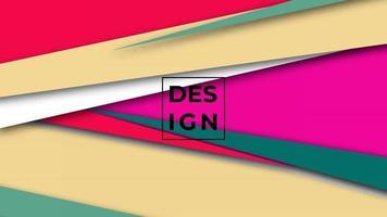 Fondo abstracto moderno degradado colorido. Fondo de formas geométricas. Puede utilizar para negocios, presentación, banner web, fondo. vector