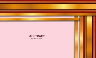 fondo rojo y dorado abstracto vector