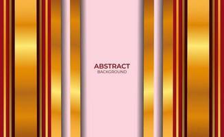 Fondo de diseño abstracto rojo y dorado vector