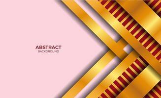 fondo abstracto diseño rojo y dorado vector