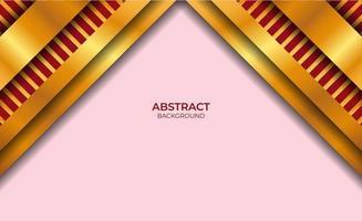 diseño de fondo rojo y dorado abstracto vector