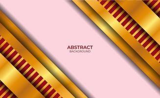 diseño abstracto de fondo rojo y dorado vector
