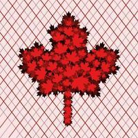 día de canadá con diseño de hoja de arce vector