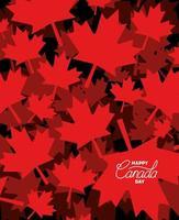 día de canadá con diseño de hojas de arce vector