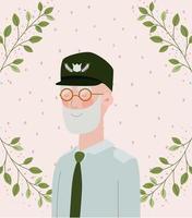tarjeta de celebración militar veterano vector