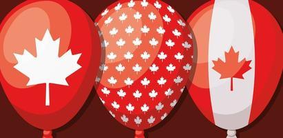 día de canadá con diseño de globos vector
