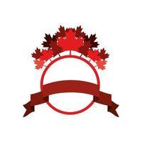 hojas de arce y diseño de símbolo de canadá vector