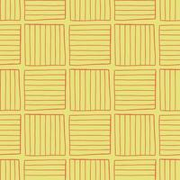 Vector seamless texture background pattern. Hand drawn, yellow, red colors.