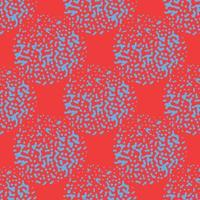 Vector seamless texture background pattern. Hand drawn, red, blue colors.
